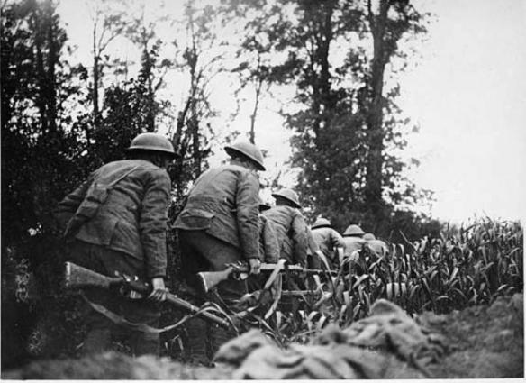 Doughboys on daylight reconnaissance in France
