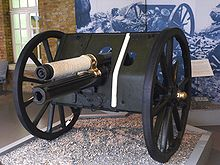 The only gun to survive  the German artillery, it  belongs to the Imperial War Museum.
