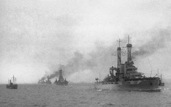 Battleship Division Nine joined the British Grand Fleet on 7 December 1917.