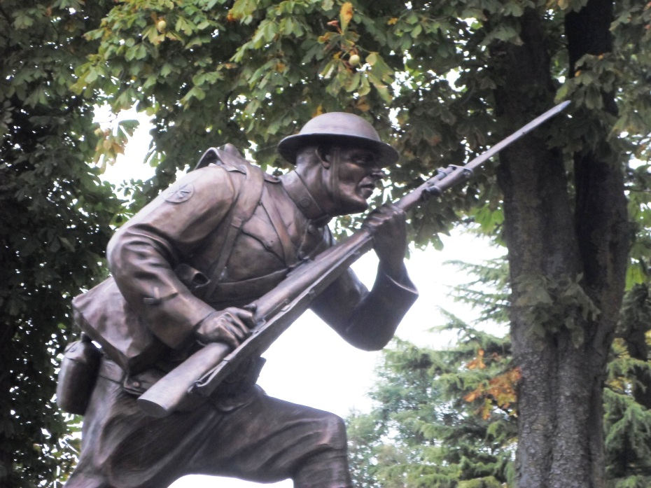 Monument to the First Division's victory in Cantigny, France