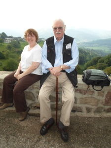 Susan and Len in the Vosges
